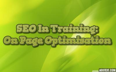 SEO In Training: On Page Optimisation