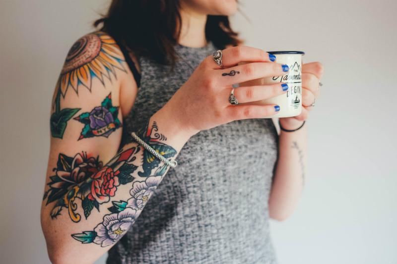 Creative Woman Holding a Mug